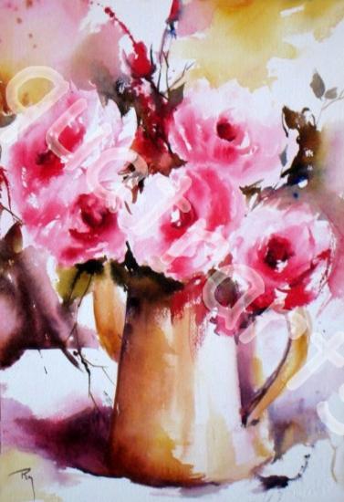 Au jardin... des roses... 25 x 35 cm- Juin 2014