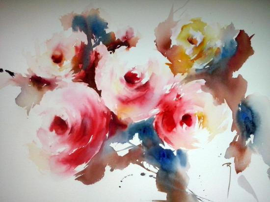 Symphonie colorée... 30 x 40 cm- mai 2014