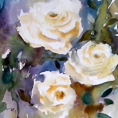 Dites-le avec des fleurs... 30 x 40 cm- Décembre 2014-VENDU
