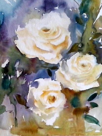 Dites-le avec des fleurs... 30 x 40 cm- Décembre 2014
