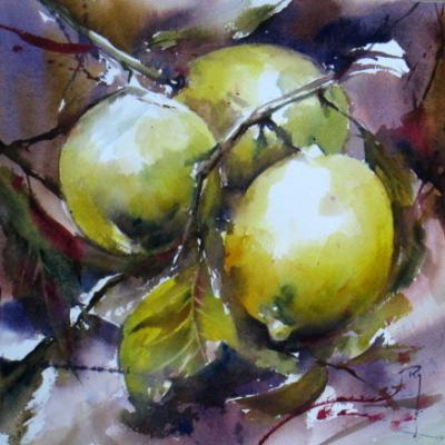 Citrons 2- 23 x 23 cm - 120 euros - Octobre 2014