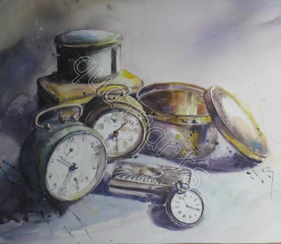 Dans l'air du temps... -38 x 38 cm- décembre 2012