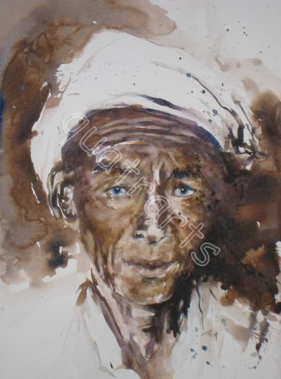 De birmanie-400 euros (+50 euros d'encadrement)- 32 x 42 cm- Août 2011