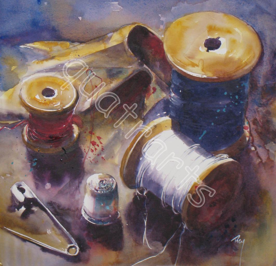 De fil en aiguille- COLL. Pr. - 31 x 31 cm- avril 2012