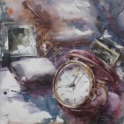 De voyage... 26 x 26 cm- Prix sur demande- aout 2013