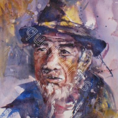Homme du Bhoutan...Prix sur demande- 28 x 38 cm- decembre 2011