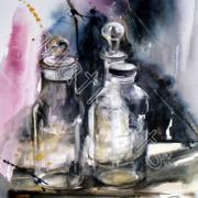 Effets de verre 5- 25 x 32 cm- Prix sur demande- Décembre 2014