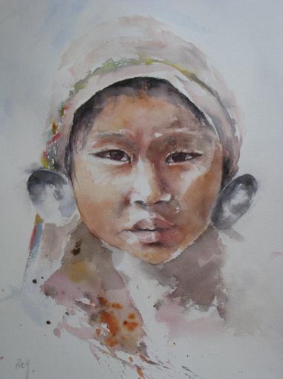 Jeune fille birmane (d'après un visuel d'André Brouchier)