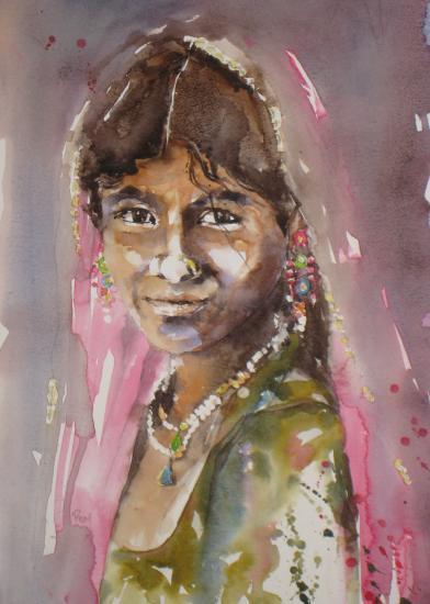 Indienne-Prix sur demande- 30 x 40 cm- Août 2011