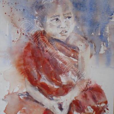 Jeune garçon birman-Prix sur demande - 30 x 40 cm-Décembre 2010