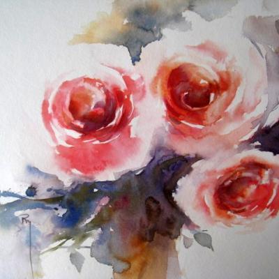 Roses roses... 24 x 24 cm- mai 2014