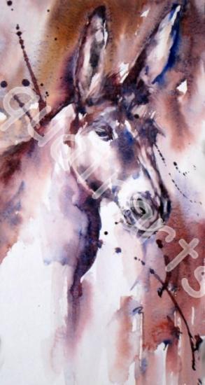Tête de mule! 20 x 42 cm- 130 euros- Septembre 2014