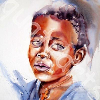 Innocence au Cap Vert - 35 x 54 cm- avril 2014