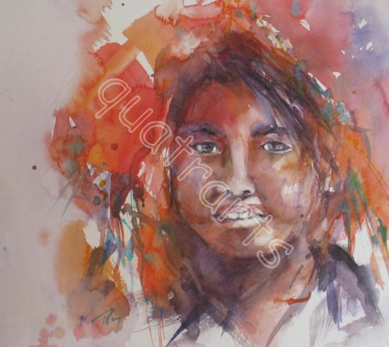 Jeune birmane -31 x 31cm- 300€ (+50€ de cadre)-juillet 2013