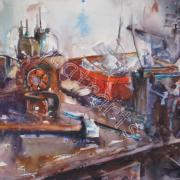 L'étau- Novembre 2011- COLLECTION PRIVEE- 1er Prix d'aquarelle 2012