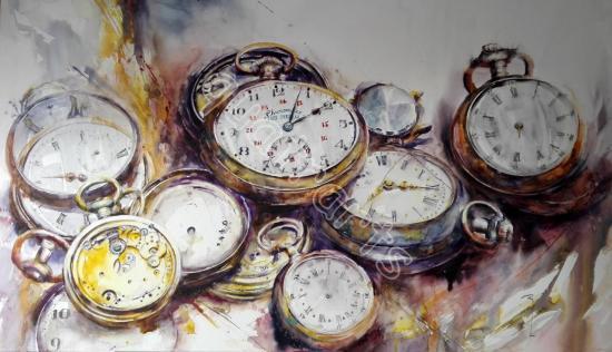 L'ouvrage du temps 1- 60 x 90 cm- Octobre 2015
