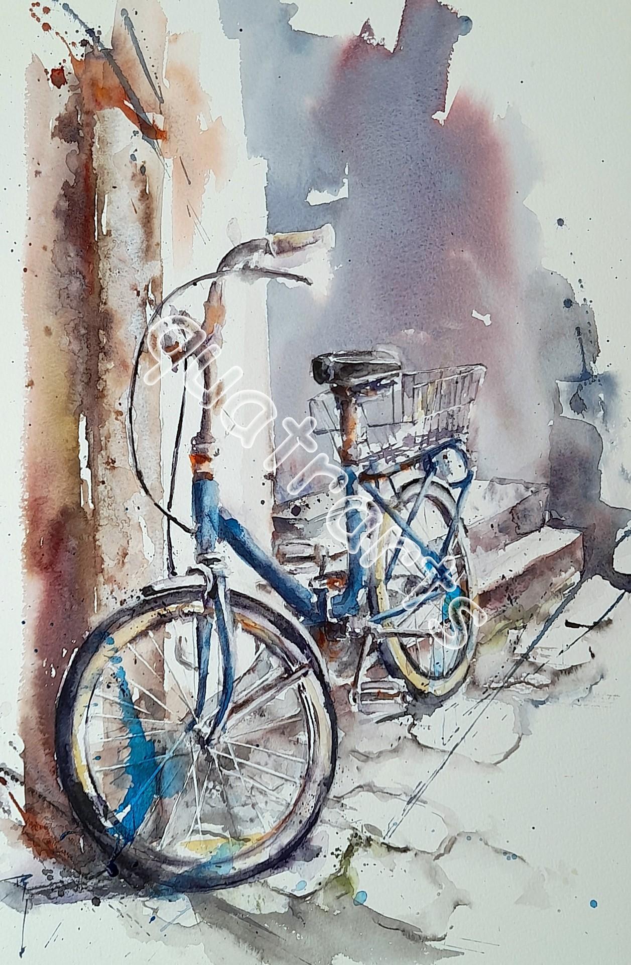 La bicyclette bleue 30 x 40 cm février 2021