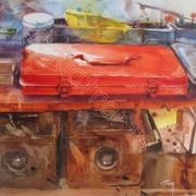 Le clou- 23 x 23 cm- COLLECTION PRIVEE-juillet 2012