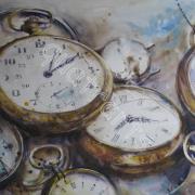 Le temps retrouvé. VENDU- 28 x 39 cm- Déc. 2012