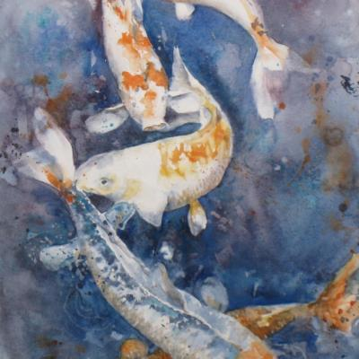 Le ballet aquatique-200€ -28 x 47 cm - Mars 2011