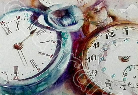 Les dernières minutes... 18x24cm- Prix sur demande- novembre 2017