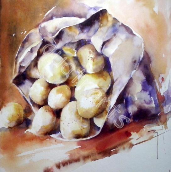 Les patates- 23x23 cm- Janvier 2015