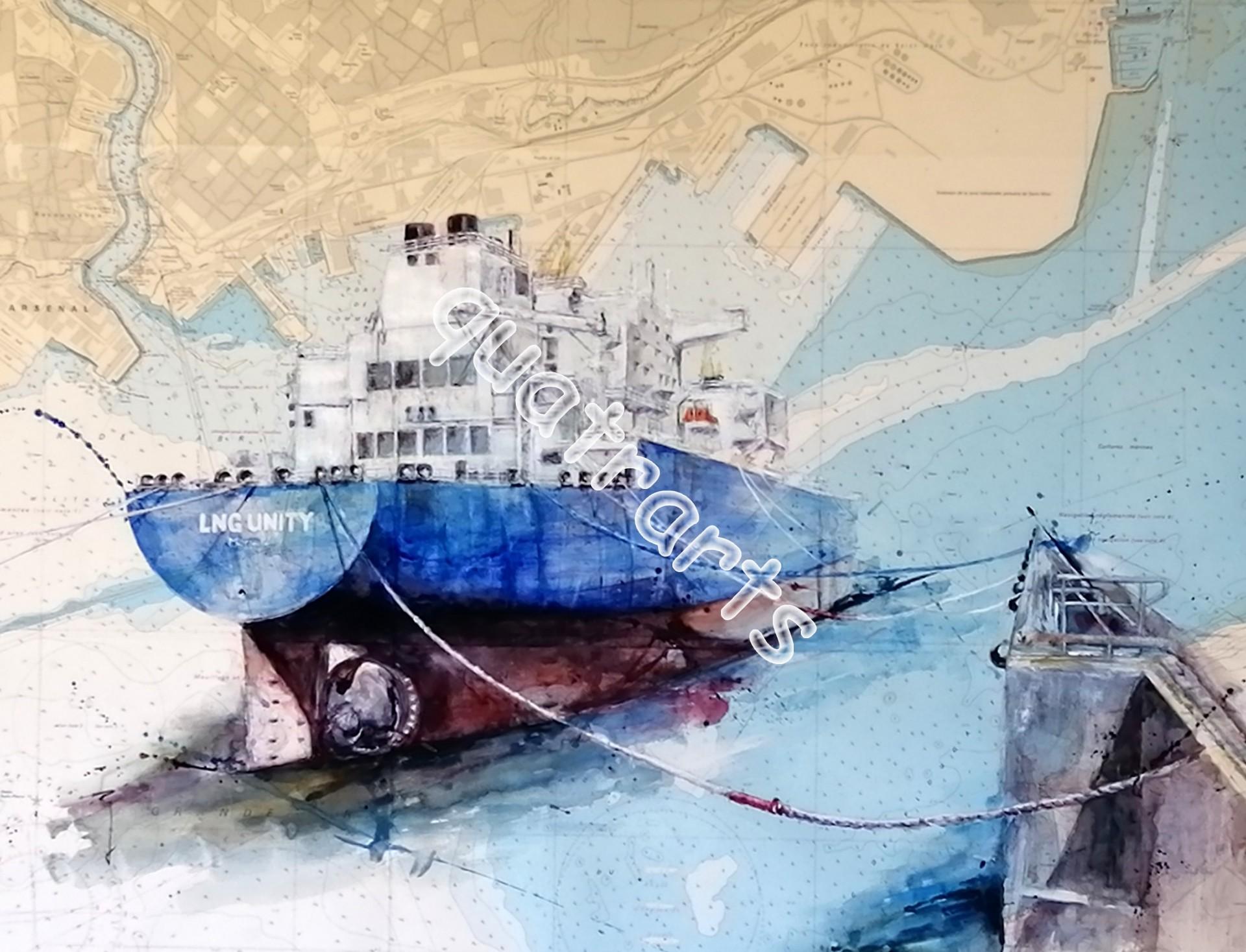LNG Unity aquarelle sur commande- vendue- juin 2020
