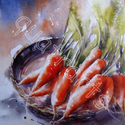 Mes carottes- 30 x 40 cm- Prix sur demande- Décembre 2014