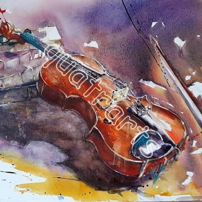 Mon violon d Ingres- 40x60cm- Septembre 2021- 200€
