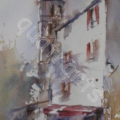 Moustiers- 22x39 cm- 130€ -sept 2013