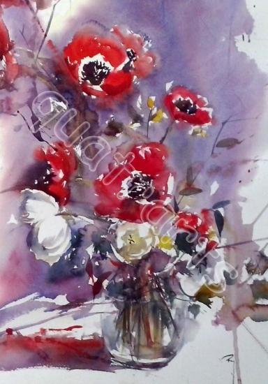 Rouge Passion...33 x 50 cm-  janvier 2014