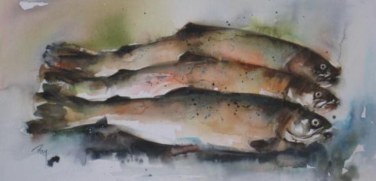 Poisson d'avril! 130 euros (+ 30 euros)- 20 x 40 cm- avril 2012