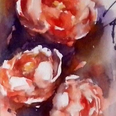 Roses... 15 x 30 cm- Prix sur demande- février 2014