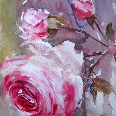 Le retour de la rose... 20 x 30 cm- Prix sur demande- Décembre 2014