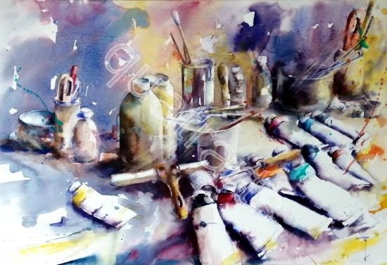 Tubes and co- octobre 2019- 50x70cm