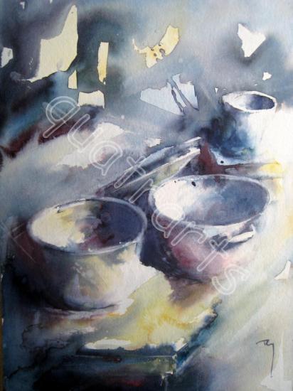 Vieux pots- 23x30 cm- Juillet 2015